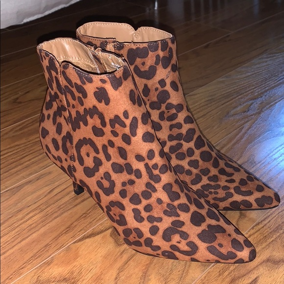 BAMBOO Shoes | Leopard Print Booties